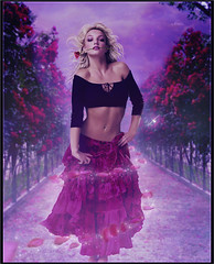 Britney Spears - In the Rhythm of Flamenco (Frelis) Tags: pink girl rose fairytale petals purple dragonfly spears space magic femme flame fantasy britney tenderness rhythm frelis fatalenco anticapating