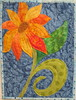 Sunflower Art Quilt (pamsquilting) Tags: modern sunflower applique fused artquilt freemotionquilting rawedge