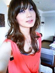 coral dress #1 (Sweetflower Yui) Tags: coral japan asian japanese tv dress cd tgirl tranny transvestite crossdresser ladyboy yui
