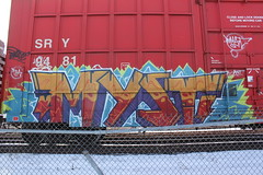 Myst (Stock Tip Assassin .) Tags: cn train bench graffiti railway boxcar freight sry fr8