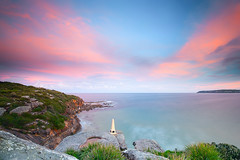 Curl Curl Sunset (Bruce_Hood) Tags: ocean longexposure sunset seascape beach water sand rocks sydney australia nsw newsouthwales northernbeaches curlcurl northcurlcurl