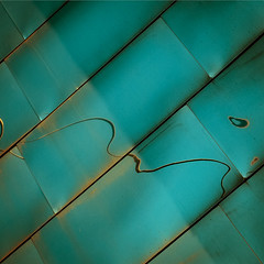 (morbs06) Tags: abstract monochrome lines metal architecture reflections germany square turquoise stripes diagonal panels hafen dsseldorf frankgehry cladding neuerzollhof
