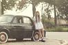(yyellowbird) Tags: girl cari selfportrait vintage car renault lolita wisconsin dauphine