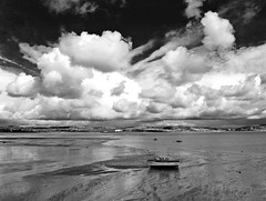 (the mr gnu) Tags: sea sky bw seascape beach swansea wales clouds canon landscape boat sand south powershot mumbles g12 themrgnu