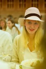warm-lit girl with hat (Winfried Veil) Tags: leica white berlin girl hat germany deutschland 50mm veil rangefinder hut redlips allemagne summilux asph mdchen winfried m9 gendarmenmarkt weis 2011 rotelippen messsucher dinerenblanc mobilew leicam9 winfriedveil