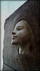 Art From Art (Chris C. Crowley) Tags: sculpture art face stone concrete child artfromart chriscrowley celticsong22 downtowndaytonabeachfl