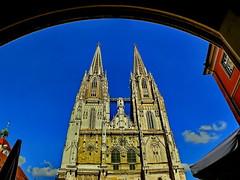 gothic angle (werner boehm *) Tags: spires gothic panasonic turm gotik regensburgdom wernerboehm ratisbonacathedral