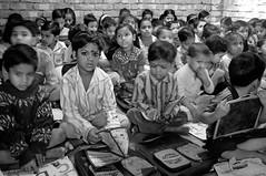HSP Non-formal School Kolkata - Slum (Suncica Kser) Tags: school blackandwhite india 35mm children fuji peoples kolkata indien ngo inde westbengal hsp x100 howrahsouthpoint