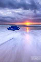 Australian Colours (SoniaMphotography) Tags: ocean morning blue sea sun seascape beach water umbrella sunrise canon dawn australia nsw 7d cronulla sutherlandshire
