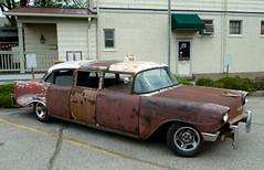 1956 Chevrolet Stretch Taxi (J Wells S) Tags: ohio chevrolet rust cincinnati rusty hotrod custom ratrod sharonville 1956chevy 2012sharonvillecarshow 1956chevroletstretchtaxi