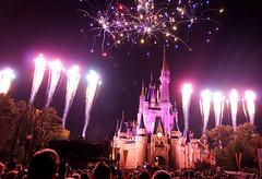 Magic Kingdom Fireworks (when I'm on vacation) Tags: world castle fireworks magic kingdom disney wishes