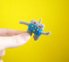 Tiny Robot 2.0 (Mochimochi Land) Tags: robot knit tiny mochi