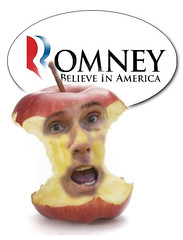 Taking a few more bites out of MItt's apple (ww3billard) Tags: apple photomanipulation photoshop politics satire presidential primary gop romney mitt