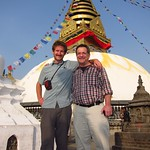 "Nick with Dad at Swayambhu <a style=""margin-left:10px; font-size:0.8em;"" href=""http://www.flickr.com/photos/14315427@N00/6986078737/"" target=""_blank"">@flickr</a>"