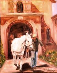treinador com cavalo (Ateli Beth Ferraz) Tags: cavalo pintura cocheira treinador leosobtela arteimpressionista