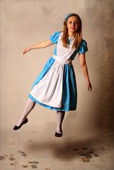 Alice In Wonderland (AbbeyT_23) Tags: texture clock cards surreal floating levitation aliceinwonderland layering