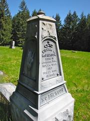 powell cemetery (linn county) (DeadManTalking) Tags: cemetery oregon waterloo powell linncounty sweethome whitebronze deadmantalking williammcpherson