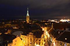Jalutuskik pimedas Tallinnas (anuwintschalek) Tags: winter haven church night port dark evening abend