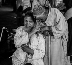 Friendship (HackedPlanet) Tags: people architecture portraits locals northafrica mosaic historic morocco berber marrakesh souks islamic