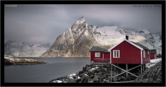 Room with a View (Stuart Leche) Tags: longexposure morning winter light sun sunlight mountain snow norway clouds landscape fishing rocks hut le fjord cabins lofotenislands hamny reinefjord hannoy canon5dmkiii reinefjorden bigstopper canonef24105mmf40lisusmlens ostind ostinden