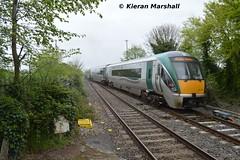 22019 departs Portlaoise, 3/5/14 (hurricanemk1c) Tags: irish train rail railway trains railways irishrail rok rotem 2014 portlaoise icr iarnrd 22000 22019 ireann iarnrdireann 4pce 1320corkheuston 1550portlaoiseheuston