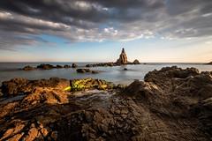 Arrecife de las sirenas (carlosjaime) Tags: atardecer mar agua paisaje almeria cabodegata roca sigma1020 arrecifedelassirenas nikond7100