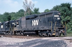 N&W 549 on 9-9-79 (C.W. Lahickey) Tags: nw emd gp382