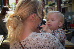 I got your hair mum...and you sunglasses (PaulHoo) Tags: city family people urban baby holland netherlands sunglasses amsterdam lumix kid spring candid citylife streetphotography 2016 streetcandid
