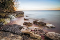 Morning Tranquility (Kevin Pihlaja) Tags: longexposure beach nature sunrise landscape waterfall spring rocks michigan shoreline tranquility greatlakes serene upperpeninsula lakesuperior keweenaw lakesuperiorshoreline leefilters bigstopper