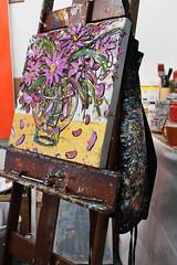 Apron Strings (skipmoore) Tags: winter art painting artist open apron studios sausalito easel sueaverell