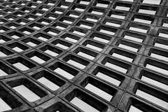 Down Deep (justingreen19) Tags: urban abstract architecture underground subway concrete mono washingtondc dc washington pattern metro cement streetphotography holes ceiling trainstation curve shape curved rectangle metrorail metrostation wmata continuous urbanabstract dcsubway rapidtransitsystem urbanlines districtcolumbia ceilingvault justingreen19 justingreenphotography