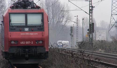 0160_2007_02_02_Gelsenkirchen_Bismarck_SBB_Cargo_Re_482_007_NWB_VT_721_RB43_Dorsten