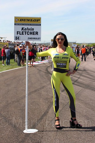 Kelvin Fletcher's grid board during the BTCC Weekend at Thruxton, May 2016