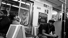 5000 (damonabnormal) Tags: people blackandwhite bw underground subway candid snapshot streetphotography septa commuters urbanphotography fujixt1 may2016