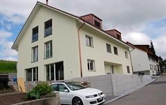 Dachaufbau Elementbauweise Neubau DEFH Büblikon