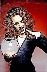 Black Magic (Fatal Nitro) Tags: wallpaper look poster cool fanart future gesture fortuneteller 90s blmchen glaskugel blackmagic wahrsagerin jasminwagner