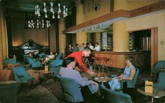 The Selkirk Lounge, Royal Alexandria Hotel, Winnipeg, Manitoba (SwellMap) Tags: architecture vintage advertising design pc 60s fifties postcard suburbia style kitsch retro nostalgia chrome americana 50s roadside googie populuxe sixties babyboomer consumer coldwar midcentury spaceage atomicage