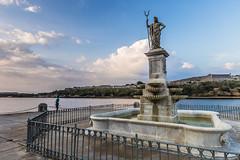 Statue of Neptune in the Malecon of Havana, Cuba (Rui P Baio) Tags: travel panorama tourism latinamerica landscape island tour angle cuba wide wideangle panoramic traveller communism spanish fidel latin northamerica caribbean che latino cuban revolucion guevara caribe