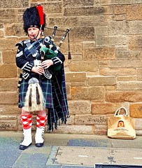 Bagpiper, Edinburgh, Scotland (orlaithnimhurchu) Tags: scotland edinburgh kilt scottish streetperformer bagpipes bagpiper