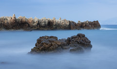 Jagged rocks, Cap d'Antibes (Laura Parker UK) Tags: longexposure sea rocks places antibes ndfilter francecorsica seascapewater