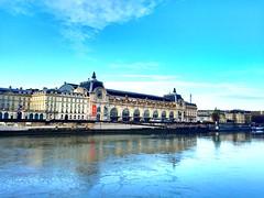 Museum Orsay, Paris 2016 (snaps by Nishan) Tags: morning travel bridge blue light sky paris art love water beautiful beauty museum river sunday lust orsay siene 2016