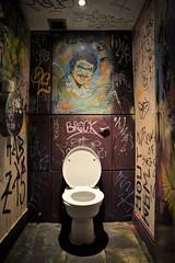 Throne (D.J. De La Vega) Tags: urban water tom bar club closet underground graffiti scotland pub nikon df edinburgh d decay toilet wc 24mm selleck f35 24120mm