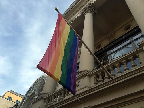 Royal Opera House flies LGBT rainbow flag for Pride 2016