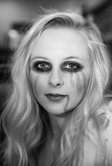 Zombie Rachel (wyojones) Tags: texas houston halloween girl woman beauty beautiful pretty cute costume gorgeous rachel zombie undead blood makeup blonde greeneyes portrait outdoor wyojones depthoffield