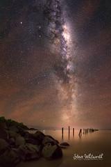 Bridport Starlight (SteveWhitworthPhoto) Tags: australia tasmania bridport bridportjetty northerntasmania reflection astrophotography stars milkyway longexposure nikon nikond800e nikon1424mmf28