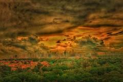 Storm clouds at sunrise.... (tomk630) Tags: sky storm nature beauty clouds danger sunrise philippines landskape