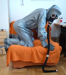 soo-co My grey plaesure. (gumovnik) Tags: rubber hazmat suit czech fetish gumovnik enclosure