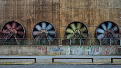 Fans in Motion (Edwin van Nuil Photography) Tags: photowalk landschaftspark duisburg geocity exif:iso_speed=100 exif:focal_length=24mm exif:make=sony camera:make=sony geostate geocountrys exif:aperture=90 nex7 sonynex7 zeisssonnarte24mmf18za camera:model=nex7 exif:model=nex7 exif:lens=e24mmf18za geo:lat=51480483333333 geo:lon=67799222222222