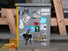 Stickers (oerendhard1) Tags: urban streetart art love crimson jack one graffiti boat rotterdam sticker stickers sake lucky yoghurt das caveman dubz cisa