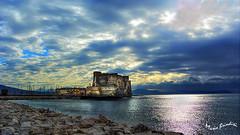 Napoli Castel dell'Ovo (Marioleona) Tags: sunset italy photography napoli naples golfo mariobrindisi cainapoli marioleona